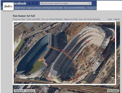 Selecteer de uitsnede om de Facebook foto's pinnen op Pinterest