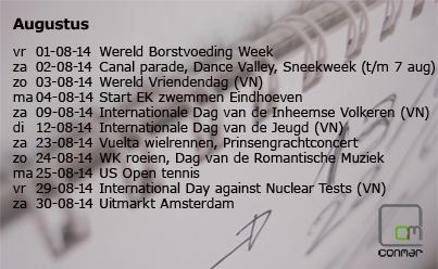 Augustus 2014 concentkalender