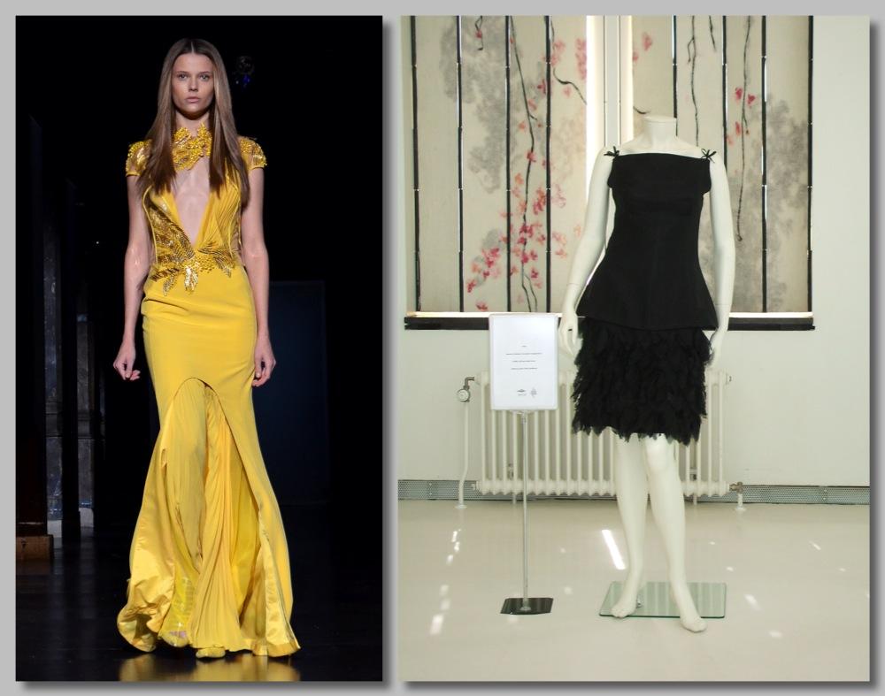 Als kledingzaak inspelen op prinsjesdag. Welke hoedje vind jij het beste passen bij deze outfit?