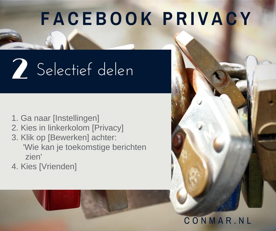 Facebook privacy tip - Deel je statusupdates, foto's en video's alleen met je Facebookvrienden