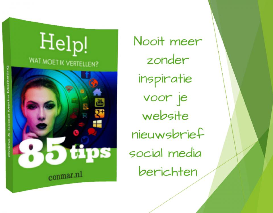 Download gratis Inspiratieboek met onderwerpen voor je social media, nieuwsbrief en website berichten