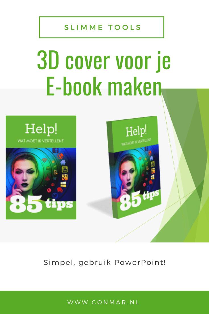 Maak met behulp van PowerPoint snel en eenvoudig een 3D cover voor je e-book