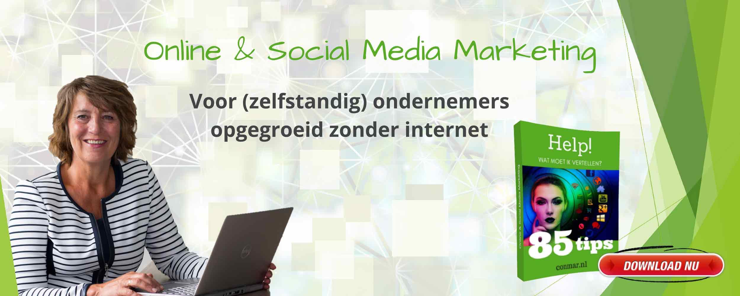 ConMar - Online en social media marketing voor ondernemers die hun naamsbekendheid willen vergroten door website, social media en nieuwsbrief optimaal te gebruiken.