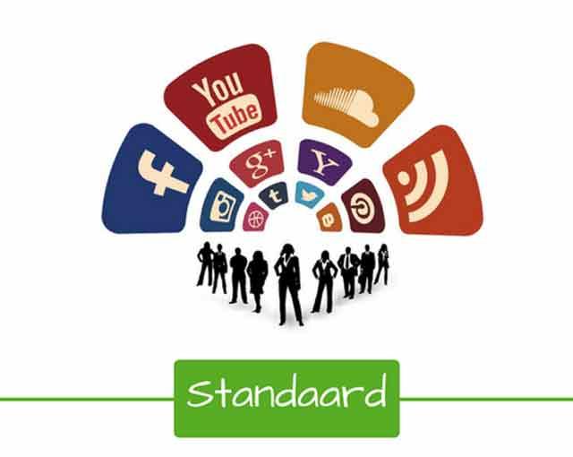 Het standaardpakket online en social media marketing voor zo maximaal mogelijk zichtbaarheid.