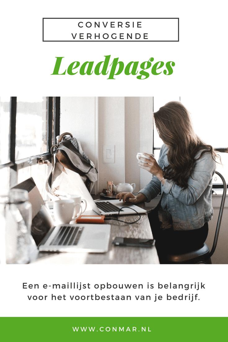Maak snel en eenvoudig conversie verhogende pagina's met leadpages, omdat een e-maillijst opbouwen belangrijk is voor het voortbestaan van je bedrijf.