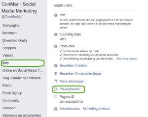 In 3 stappen je privacybeleid op publiceren op Facebook
