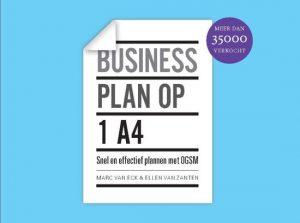 Boek Businessplan op 1A4 lees challenge 2020